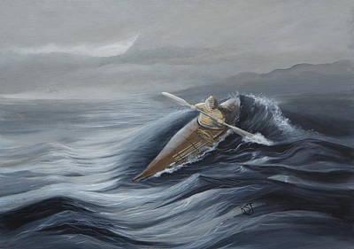 Aleut Painting - Aleut Hunter by Rhonda Shelford Jansen  - RSJ