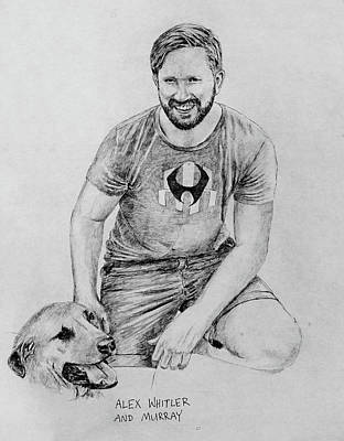 Drawing - Alex And Murray by Larry Whitler