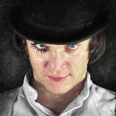 Character Portraits Painting - Alex Delarge by Taylan Apukovska