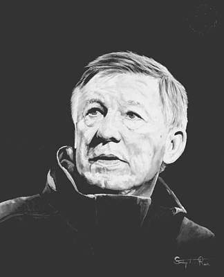 Alex Ferguson Art Print by Stephen Rea