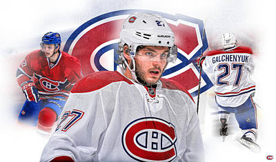 Canadiens Digital Art - Alex Galchenyuk Artwork by Nicholas Legault