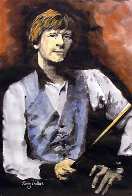 Snooker Painting - Alex Higgins  by Barry Mullan