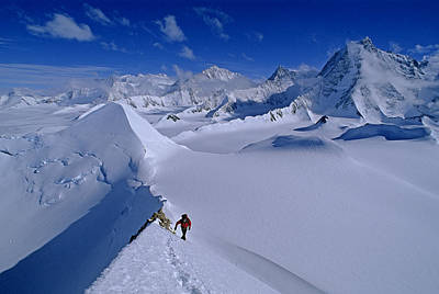 Tyree Photograph - Alex Lowe On Mount Bearskin 2850 M by Gordon Wiltsie
