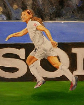 Women Soccer Painting - Alex Morgan Scores by James Lopez