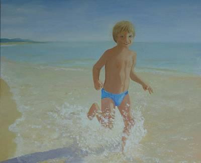 Painting - Alex On The Beach by Joy Fahey