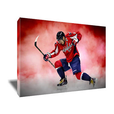 Alexander Ovechkin Painting - Alex Ovechkin Canvas Art by Artwrench Dotcom