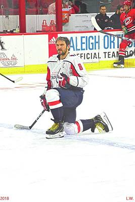 Photograph - Alex Ovechkin by Lisa Wooten