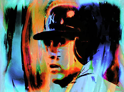 Slugger Painting - Alex Rodriguez 02c by Brian Reaves