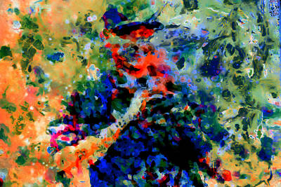 New York Rangers Mixed Media - Alex Rodriguez 03f by Brian Reaves