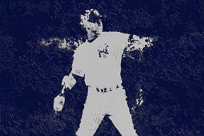 Softball Mixed Media - Alex Rodriguez 3a by Brian Reaves