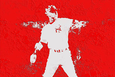 Softball Mixed Media - Alex Rodriguez 3c by Brian Reaves