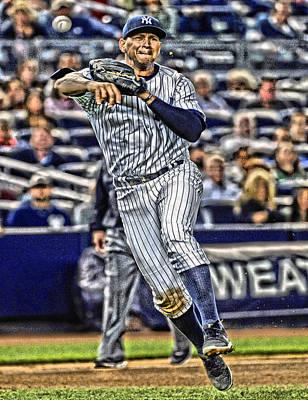New York Yankees Mixed Media - Alex Rodriguez New York Yankees Art 2 by Joe Hamilton
