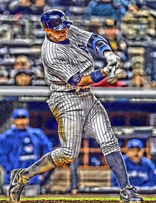 Yankees Mixed Media - Alex Rodriguez New York Yankees Art 3 by Joe Hamilton