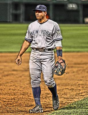 New York Yankees Mixed Media - Alex Rodriguez New York Yankees Art 4 by Joe Hamilton