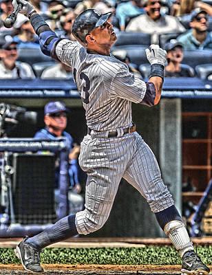 New York Yankees Mixed Media - Alex Rodriguez New York Yankees Art 5 by Joe Hamilton
