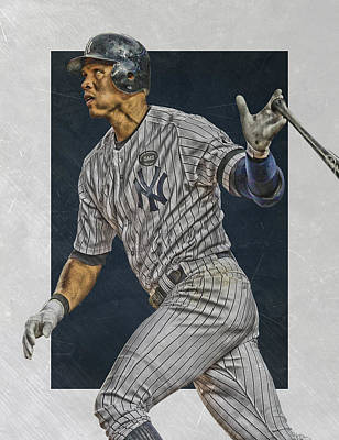 New York Yankees Mixed Media - Alex Rodriguez New York Yankees Art by Joe Hamilton