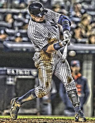New York Yankees Mixed Media - Alex Rodriguez New York Yankees Art1 by Joe Hamilton