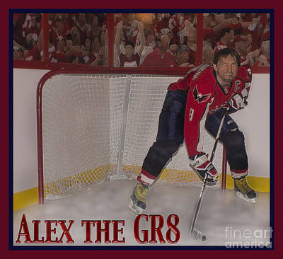 Alex Ovechkin Photograph - Alex The Great by Mark Stephens