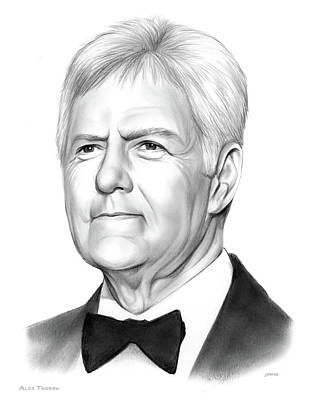 Drawings - Alex Trebek by Greg Joens
