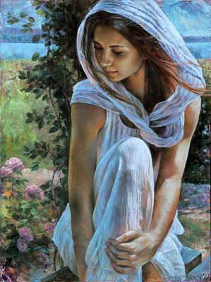 Painting -  Alexa by Arthur Braginsky