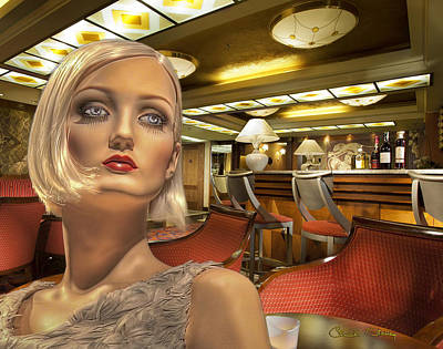 Photograph - Alexa In The Imperial Bar by Chuck Staley