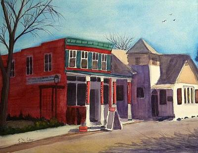 Painting - Alexander And Main  by Tom Conboy