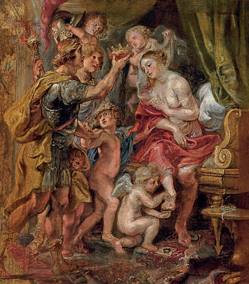 Painting - Alexander And Roxana by Peter Paul Rubens