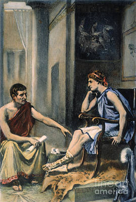Photograph - Alexander & Aristotle by Granger