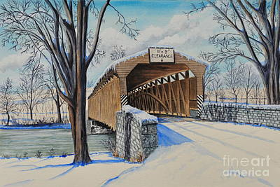 Painting - Alexander Bridge by John W Walker