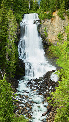 Art Print featuring the photograph Alexander Falls - 2 by Stephen Stookey