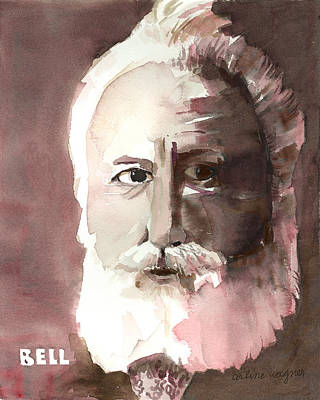Monotone Painting - Alexander Graham Bell by Arline Wagner