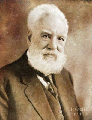 Vintage Painter Painting - Alexander Graham Bell, Infamous Inventor By Mary Bassett by Mary Bassett