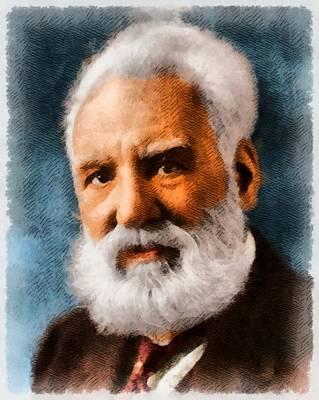 Inventor Painting - Alexander Graham Bell, Inventor by John Springfield