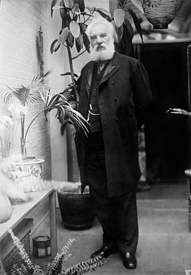 Photograph - Alexander Graham Bell - Telephone Inventor by War Is Hell Store