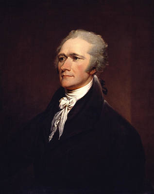 Landmarks Painting Royalty Free Images - Alexander Hamilton by John Trumbull Royalty-Free Image by War Is Hell Store