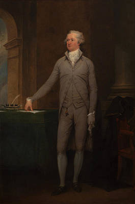 Democracy Painting - Alexander Hamilton Full-length Portrait by War Is Hell Store