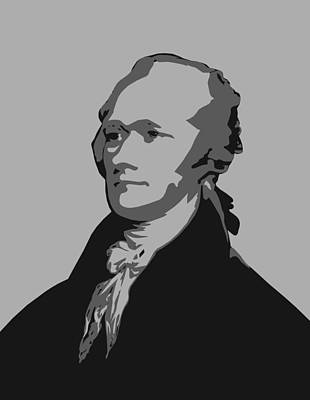 Founding Fathers Digital Art - Alexander Hamilton Graphic by War Is Hell Store
