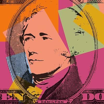 Founding Fathers Mixed Media - Alexander Hamilton Pop Art by Dan Sproul