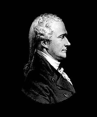 Democracy Digital Art - Alexander Hamilton Portrait by War Is Hell Store