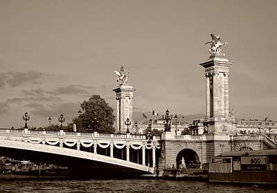 Photograph - Alexander IIi Bridge, Monochrome by Gordon Beck