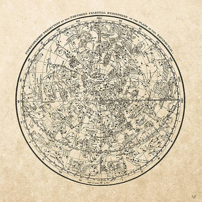 Digital Art - Alexander Jamieson's Celestial Atlas - Northern Hemisphere  by Serge Averbukh