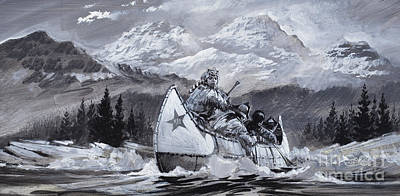 Mountain Painting - Alexander Mackenzie by Graham Coton