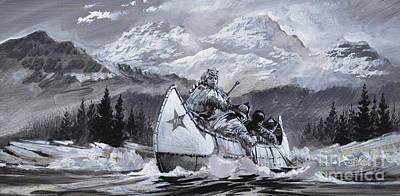 Canoeist Painting - Alexander Mackenzie by Graham Coton