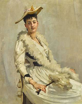 Music Royalty-Free and Rights-Managed Images - Alexander Mann, R.O.I. 1853-1908 PORTRAIT OF MADEMOISELLE B. by Alexander Mann