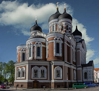 Eastern Europe Mixed Media - Alexander Nevsky Cathedral by Capt Gerry Hare