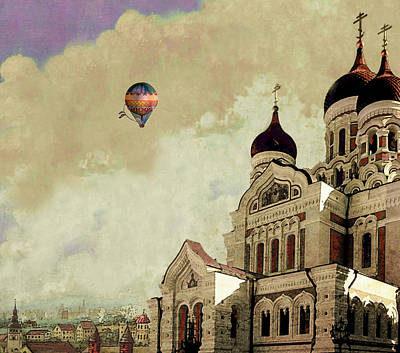 Digital Art - Alexander Nevsky Cathedral In Tallin, Estonia, My Memory. by Jeff Burgess