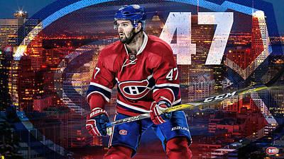 Montreal Canadiens Digital Art - Alexander Radulov Habshype by Nicholas Legault