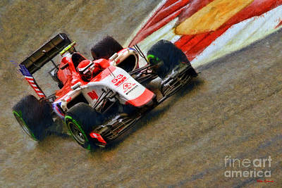 Photograph - Alexander Rossi 2015 Manor Marussia  by Blake Richards