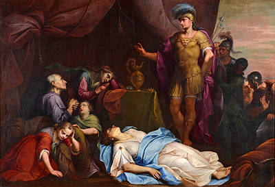 Painting - Alexander The Great And The Deceased Wife Of Darius by Giambettino Cignaroli