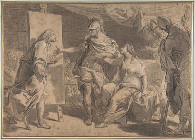 Drawing - Alexander The Great Offering His Concubine Campaspe To The Painter Apelles by Gaetano Gandolfi